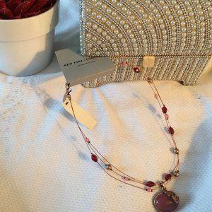 NEW New York & Company Mauve beaded Necklace